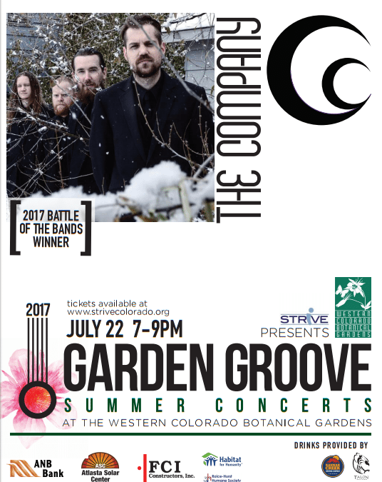 The Company Garden Groove Concert at the Western Slope Botanical Gardens July 22nd in Grand Junction