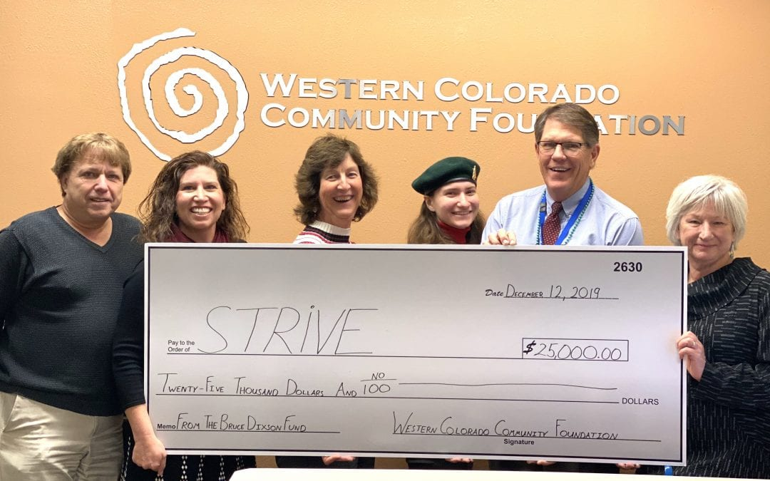 Western Colorado Community Foundation Awards STRiVE with Bruce Dixon Funds