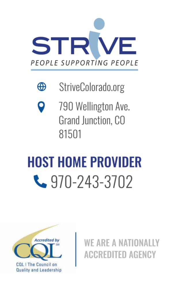 This is STRiVE Host Home Program